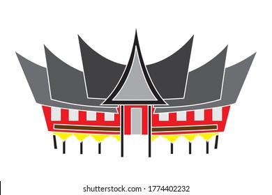 rumah stock vectors images vector art shutterstock https www shutterstock com image vector vektor rumah gadang traditional house west 1774402232