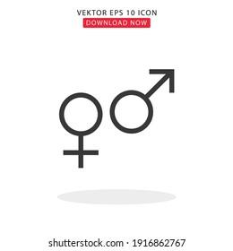 Vektor simbol gender with white background