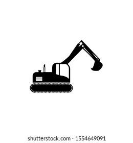 Vektor templat alat berat excavator untuk perusahaan konstruksi,  Ikon gambar konsep ikon excavator ringkas dalam gaya modern, ilustrasi untuk desain UI aplikasi logo seluler web Anda,