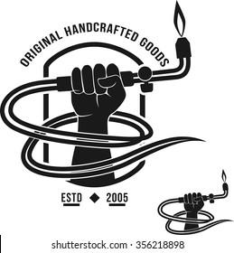 Veltor logo handcrafted goods welding torch welder