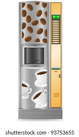 vending coffee is a machine vector illustration isolated on white background