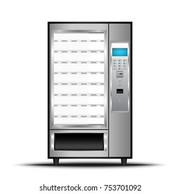 Vending machine of food and beverage automatic selling., Vector, Illustration