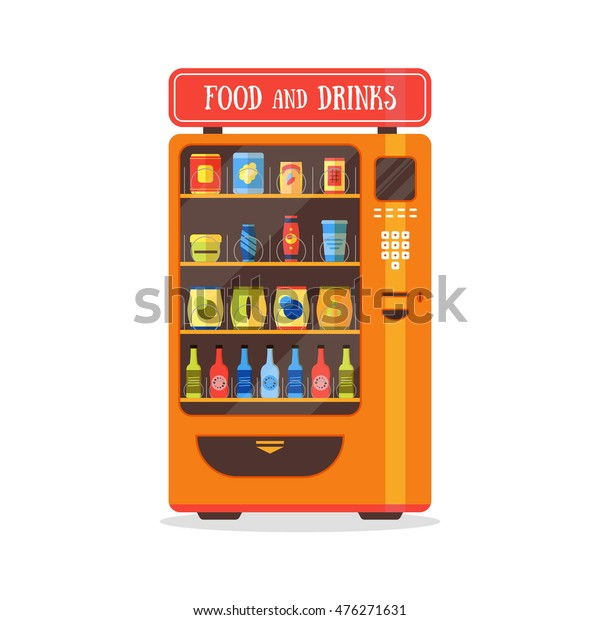 vending machine soda food drink vector snacks outdoor vectors packaging sports
