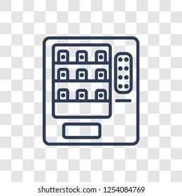 Vending machine icon. Trendy linear Vending machine logo concept on transparent background from Hotel and Restaurant collection