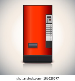 Vending machine for the sale of drinks. Vector drawing for your design and advertisements