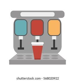 vending machine soda cinema vector illustration eps 10