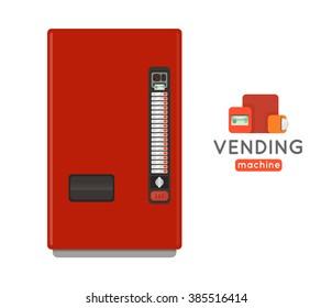 Vending machine vector illustration.