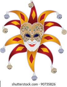 Venetian mask with bells jester