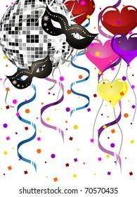 venetian party background - vector