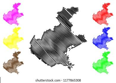 Veneto (Autonomous region of Italy) map vector illustration, scribble sketch Veneto map