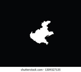 Veneto outline map Italy region