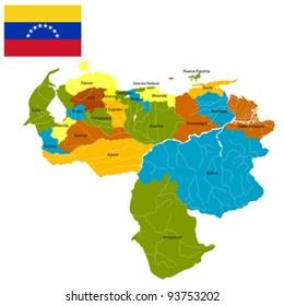 Royalty Free Map Of Venezuela Stock Images, Photos & Vectors ...