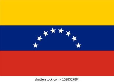 Venezuela Flag country. Illustrator vector