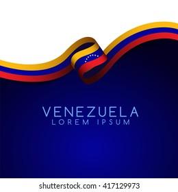 Venezuela Flag Ribbon : Vector Illustration
