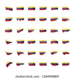Venezuela flag, vector illustration on a white background.