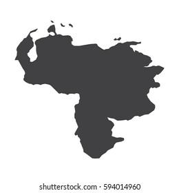 Venezuela map in black on a white background. Vector illustration