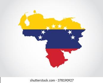 Venezuela Map Flag