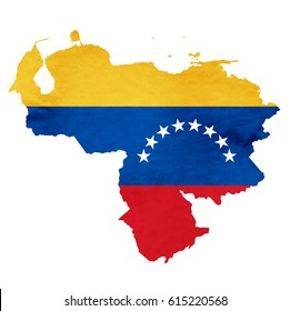 Venezuela Map National flag icon