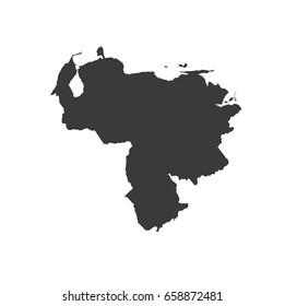 Venezuela map vector. / Venezuela map.