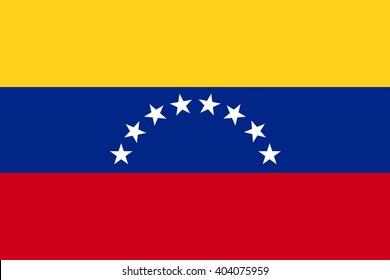 Venezuela official flag,  stars, stylish vector illustration