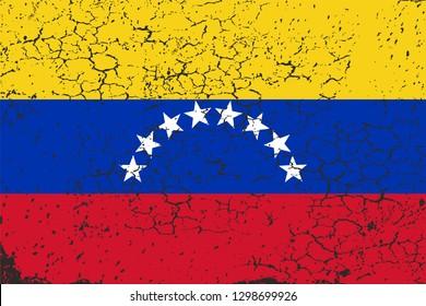 Venezuela, the political crisis. Vector image, white background.