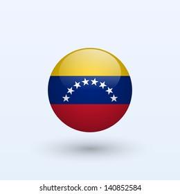 Venezuela round flag. Vector illustration.