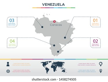 Venezuela-info graphics elements Vector illustration