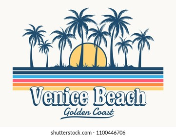 Venice beach theme vintage print design, for t-shirt pritnt and othere uses