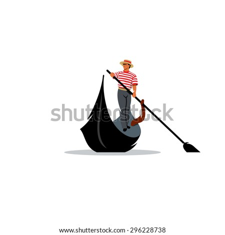 cf7d2f5cd74 Venice Gondola Gondolier Rowing Oar Sign Stock Vector (Royalty Free ...
