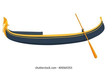 Venice gondola vector illustration isolated on a white background