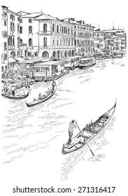 Venice - Grand Canal. The view from the Rialto Bridge