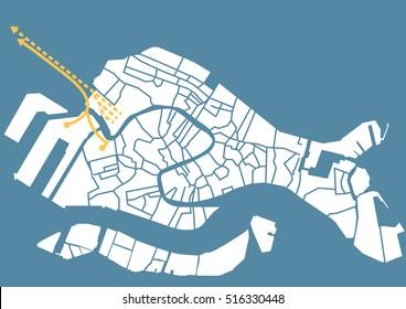 Venice (Italy) vector map