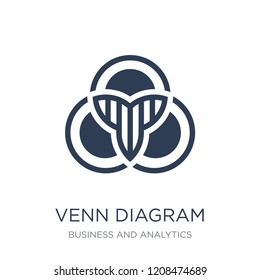 Venn diagram icon. Trendy flat vector Venn diagram icon on white background from Business and analytics collection, vector illustration can be use for web and mobile, eps10