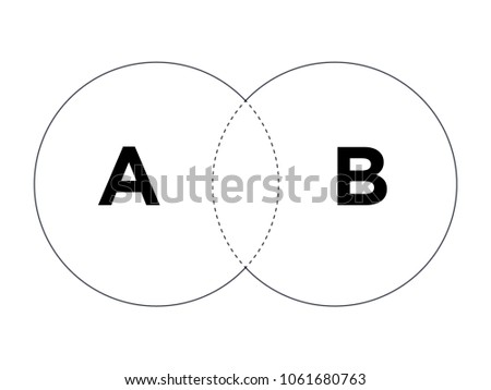 venn diagram illustration for scrapbook flyers posters web greeting cards science