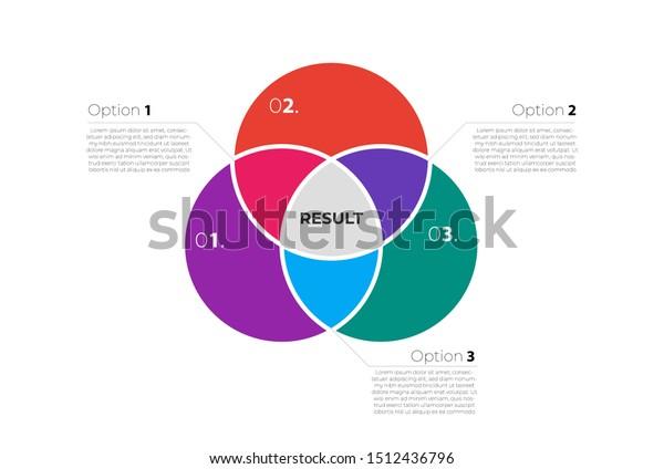 Venn Diagram Infographic Template Three Circles Stock Vector Royalty Free 1512436796