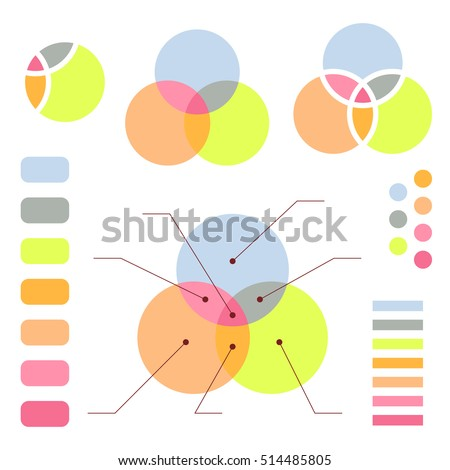 Venn Diagram Note Lines Isolated On Stock Vector Royalty Free