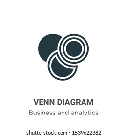 Venn diagram vector icon on white background. Flat vector venn diagram icon symbol sign from modern business and analytics collection for mobile concept and web apps design.