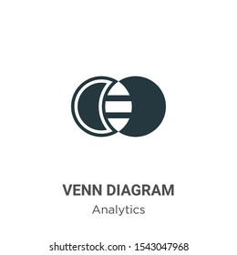 Venn diagram vector icon on white background. Flat vector venn diagram icon symbol sign from modern analytics collection for mobile concept and web apps design.