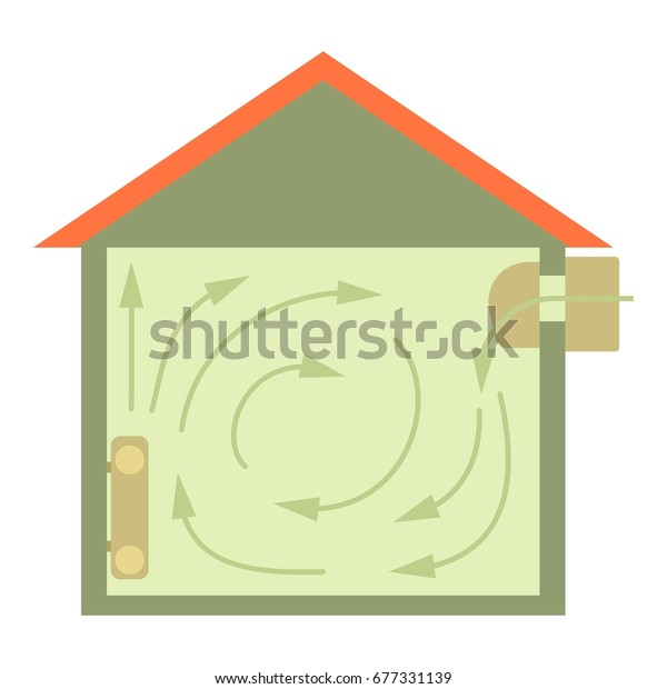 Ventilated home icon. Cartoon illustration of ventilated home vector icon for web design