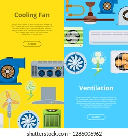 Ventilation vector industrial air conditioner heat cool conditioning system technology illustration backdrop set cooling duct vent engineering equipment background