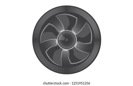 Ventilator & Airconditioning Symbol  isolated - vector illustration
