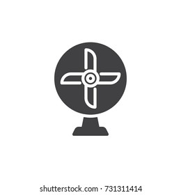 Ventilator icon vector, filled flat sign, solid pictogram isolated on white. Table Fan Symbol, logo illustration.