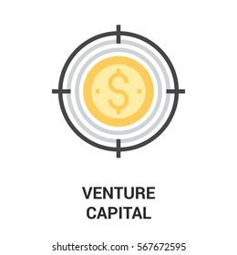 venture capital icon concept