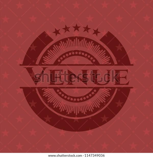 Venue vintage red emblem