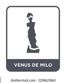 venus de milo icon vector on white background, venus de milo trendy filled icons from Museum collection, venus de milo simple element illustration