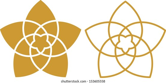 Venus Flower Pentagram, Golden Ratio, Orbits: Venus Earth around the Sun