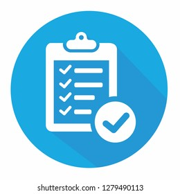 Verification of delivery list clipboard symbol vector icon illustration