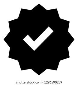 Verified Check Mark Vector Icon