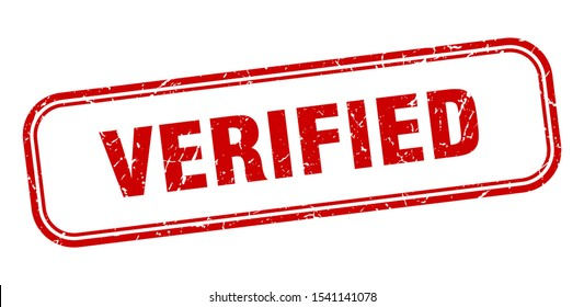 verified red sign. verified square grunge stamp