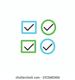 Verify icon design with right arrow and commercial use